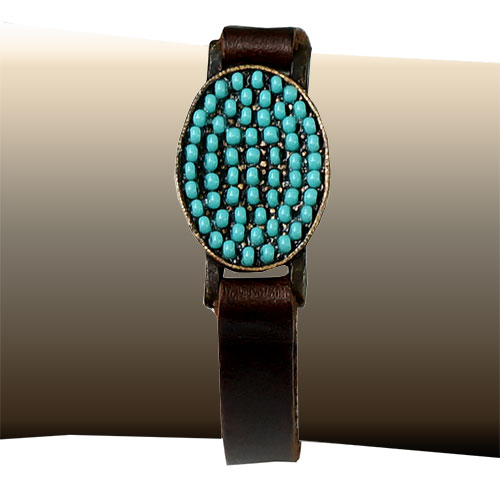Rebel Designs Womens Leather & Turquoise JB616