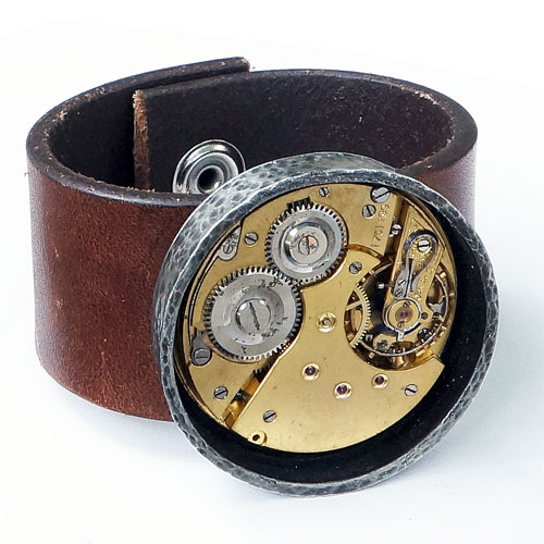 Rewind Mens Vintage Watch Movement Cuff RJB225
