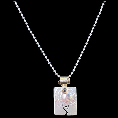 Peterman Silver Solo Dancer Necklace JN1702