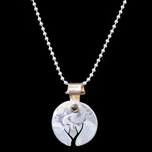 Peterman Tree Silver Necklace JN1704 SOLD