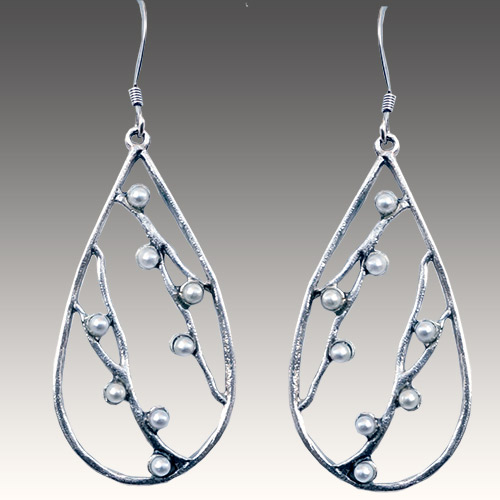 Mercedes Shaffer Earring Teardrop Pearl JE3071