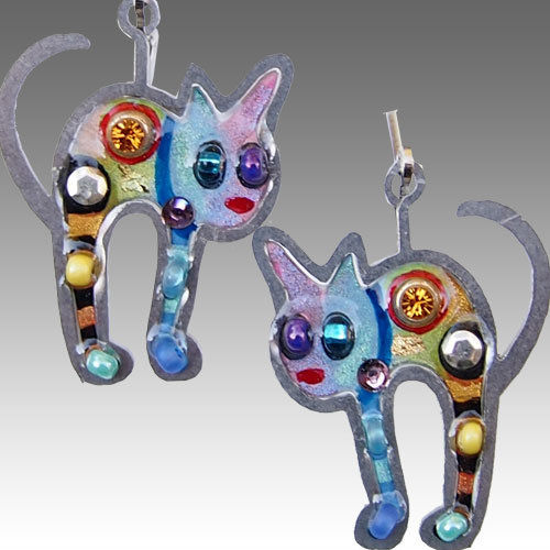 Seeka Cat Earrings JE1514 SOLD