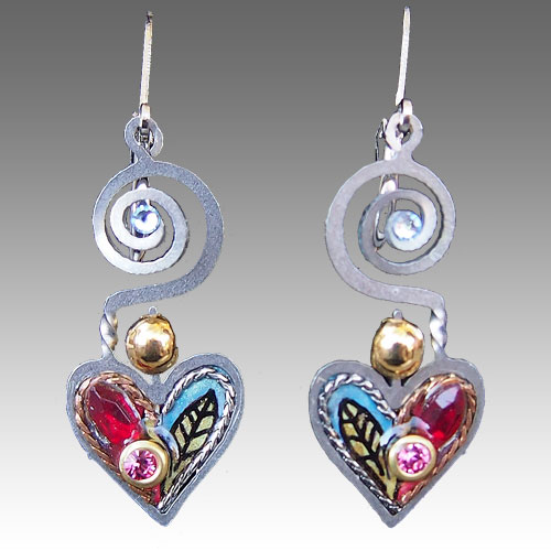 Seeka Heart Earrings JE2179 SOLD