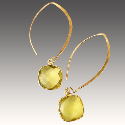 Sher Earrings Artesian Stones - Citrine JE3053