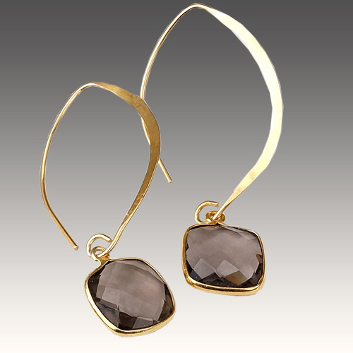Sher Earrings Artesian Stones - Labradorite JE3055