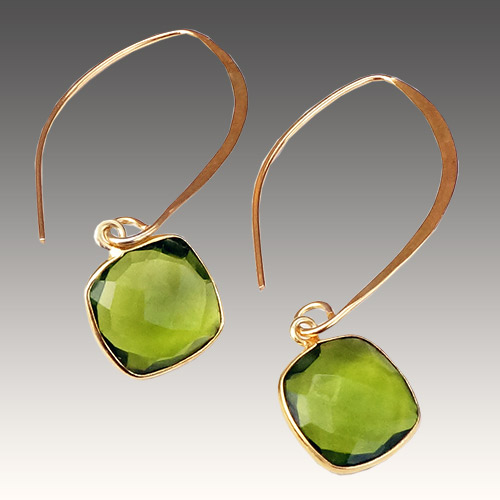 Sher Earrings Artesian Stones - Peridot JE3062