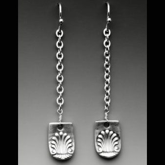 Silver Spoon Seashell Earrings RJE64