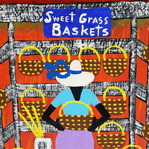 Squeakie 8x10 Basket Lady WP1261 SOLD