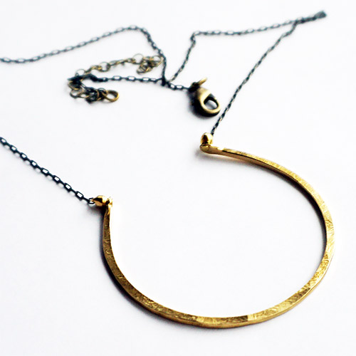 Ten2Midnight Necklace Brass Hoop JN2241