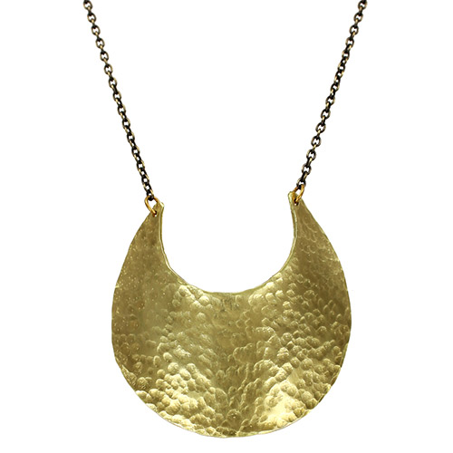 Ten2Midnight Necklace Brass Crescent JN2245