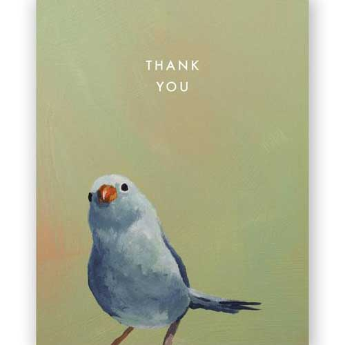 Thank You Card Bird 6615blt
