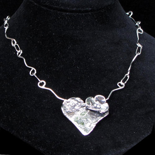 Tinsman Heart w/Dogwood Necklace JN869 SOLD