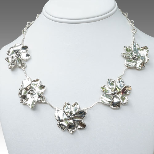 Tinsman Windflowers Necklace JN870 SOLD