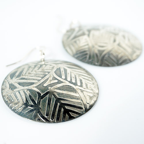 Webster Handforged Pewter Earrings JE3758