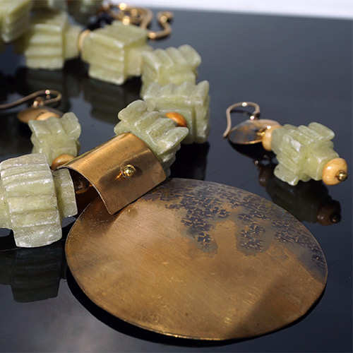 Webster Necklace & Earrings Magnificent Jade JNS2538