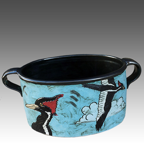 Jean Wilder Woodpecker Bowl DP1142