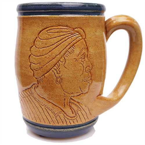 Eugene Etched Face Mug Blue DP2068