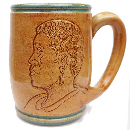 Eugene Etched Face Mug Green DP2069