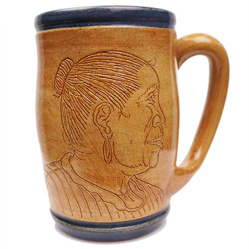 Eugene Etched Face Mug Blue DP2070