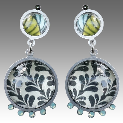 Yooli Earring Botanical Graphic Posts III JE2674