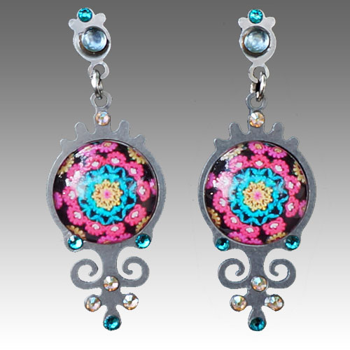 Yooli Earrings Flower Power JE2715