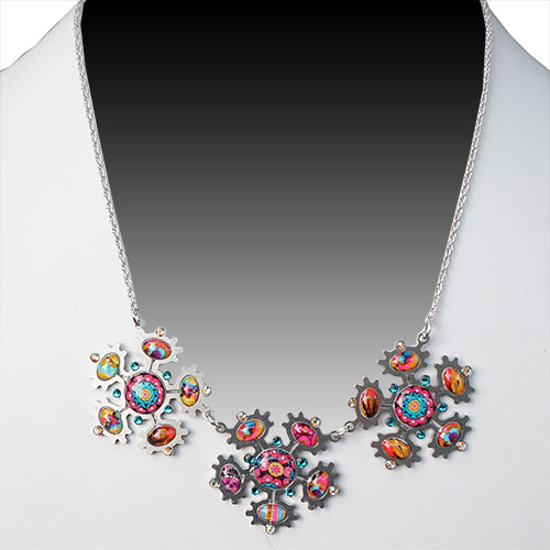 Yooli Necklace Pop Flowers JN1731