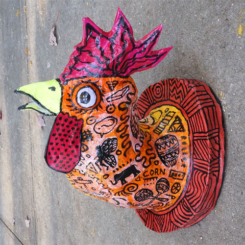 Yummy Rooster Wall Lamp FL352