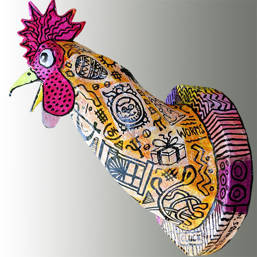 Yummy Rooster Wall Lamp FL365 SOLD