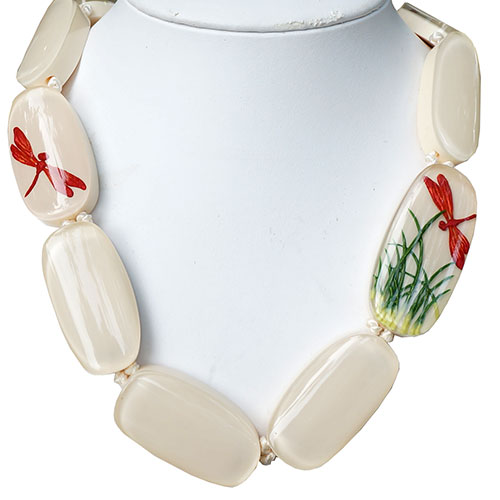 Zsiska Fragile White 12 Bead Necklace JN1947