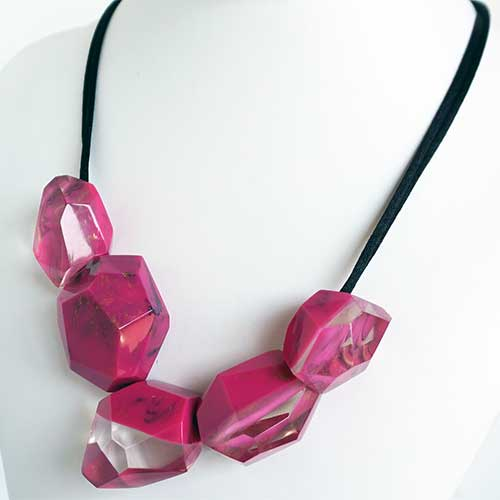 Zsiska Petra Necklace Pink JN2560