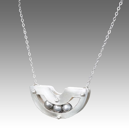 de Soria Necklace Silver & Ball Bearings JN1537